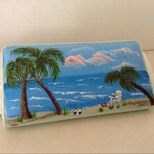 Handbags - Painted beach theme wallet
